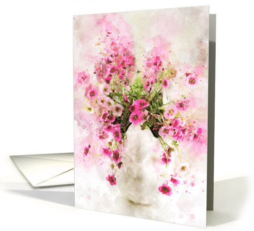 Saxifraga Tangle Splash Blank Any Occasion card (1493148)