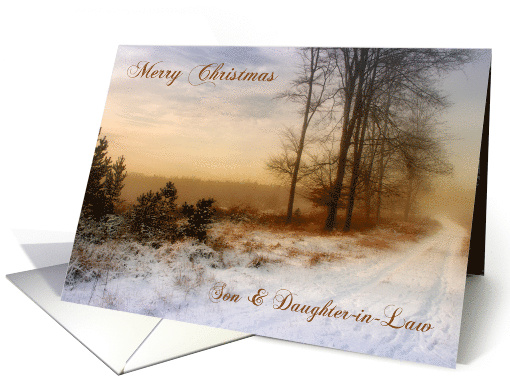 Son & Daughter-in-Law Christmas Snow Covered Country Path card
