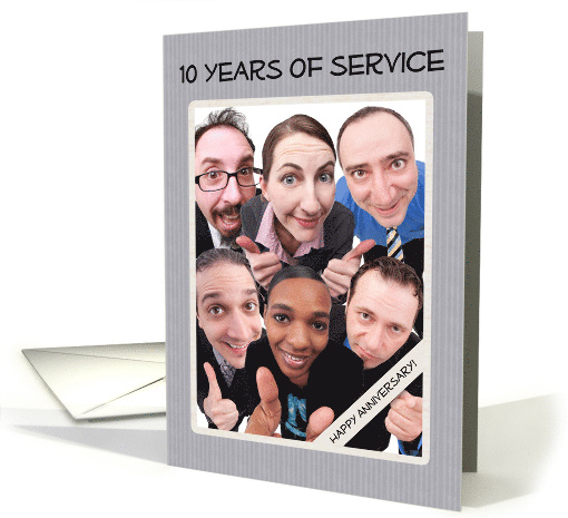 Ten Years of Service Business Employee Anniversary card (1520516)