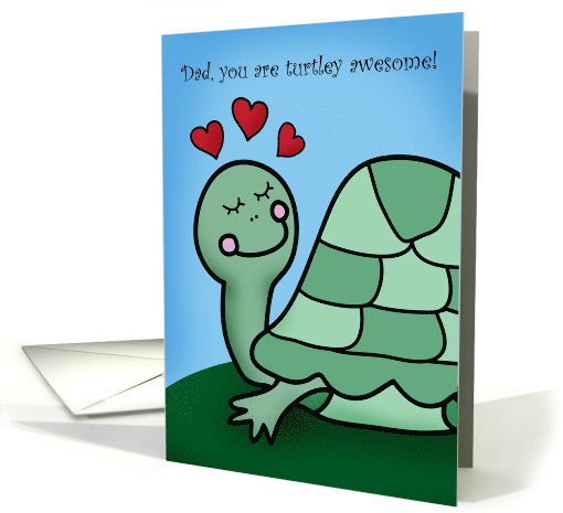 Happy Father's Day Cute Turtle card (1568752)