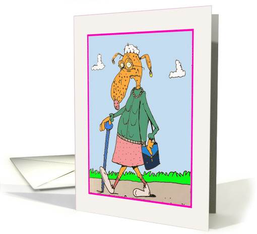 Birthday Congratulations You're Old Cartoon card (1542322)