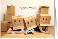Thank you Helping us Move Box Happy card