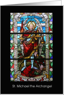 St. Michael the Archangel Feast Day Name Day on September 29 card
