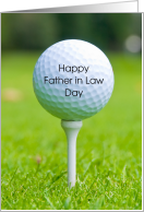 Father in Law Day Golf Ball Tee card