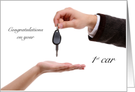 Keys to your 1st Car Congratulations card