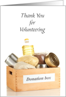 Food Pantry Donation Box Volunteer Thank You card