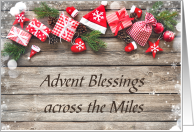Wood and Greenery Advent Blesings Across the Miles card