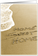 Home Sweet Home Beach Sand Moving Announcement Card