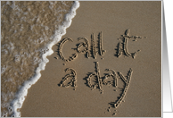 call it a day - retirement beach card