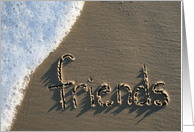 friends... written in sand card