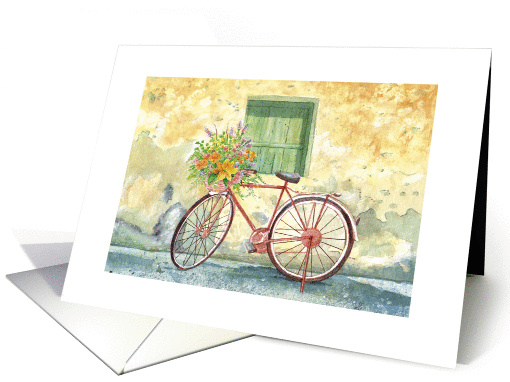 Thinking of You, Bicycle with Flowers in Handlebar... (1403600)