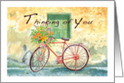 country bicycle, thinking of you card