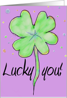 Rainbow Clover Happy Birthday Whimsical Happy St. Patrick's Day Paper Greeting Card Text card