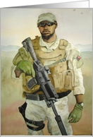 Support Our Troops Modern Day Soldier card