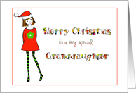 grand daughter christmas card