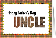 happy father's day Uncle card