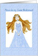 please be my Junior bridesmaid card