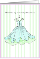 Honorary Bridesmaid card
