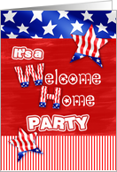 invitation welcome home party card