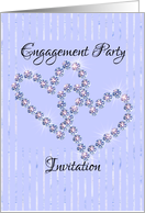 bling hearts engagement party invitation card