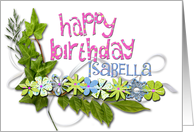 happy birthday isabella card