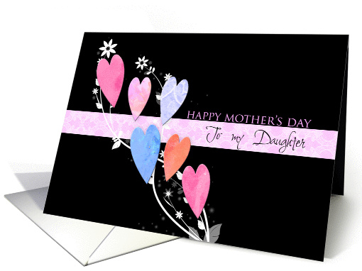 For daughter on mother's day with hearts card (580357)
