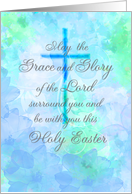 Holy Easter blessings with cross card