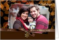 Holiday Photocard with snowflake charm card