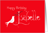 happy birthday Isabelle card