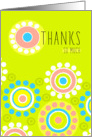 Bright Colorful Thanks for Friendship Modern Flowers Card