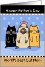 Happy Mother's Day World's Best Cat Mom card