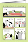 Funny Cats Spa Treatments for Your Birthday card