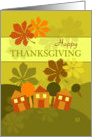 Happy Thanksgiving From Our House to Yours Folk Art Fall Colors card