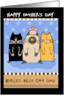 Happy Father's Day World's Best Cat Dad card