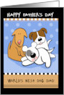 Happy Father's Day World's Best Dog Dad card