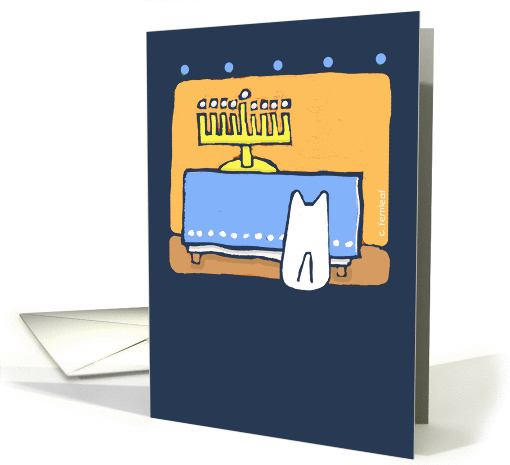 Happy Hanukkah, Dog Pets Menorah card (535637)