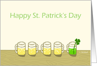 Happy St. Patrick's Day, Green beer card