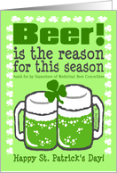 Beer, Green Beer, Happy St. Patrick's Day! card