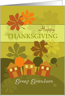 Happy Thanksgiving to Great Grandson Folk Art card