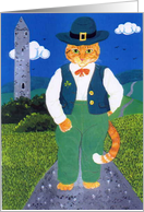 Leprechaun Cat, St Patrick's Day card