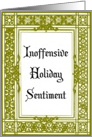 Inoffensive Holiday Sentiment Card