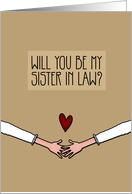 Will you be my Sister in Law? - from Lesbian Couple card
