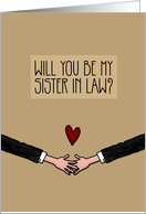 Will you be my Sister in Law? - from Gay Couple card