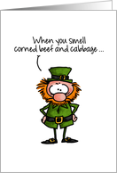 Corned Beef and Cabbage Joke - St. Patrick's Day card