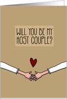 Will you be my Host Couple? - from Lesbian Couple card