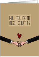 Will you be my Host Couple? - from Gay Couple card
