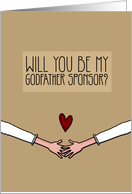 Will you be my Godfather Sponsor? - from Lesbian Couple card