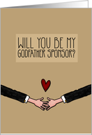 Will you be my Godfather Sponsor? - from Gay Couple card