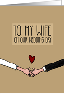 Be my Wife on our Wedding Day card