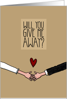Will you give me Away? card